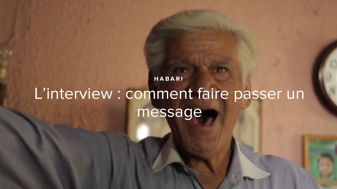 L'interview : comment faire passer un message